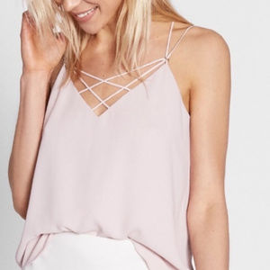 NWOT Express Criss Cross Pink Camisole